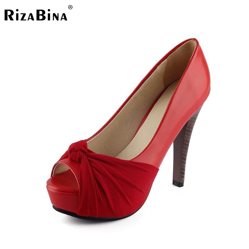 women platform peep open toe high heel shoes quality spring fashion heeled footwear brand pumps heels shoes size 34-43 P16289 apoepo brand 2017 zapatos mujer black and red shoes women peep toe pumps sexy high heels shoes women s platform pumps size 43