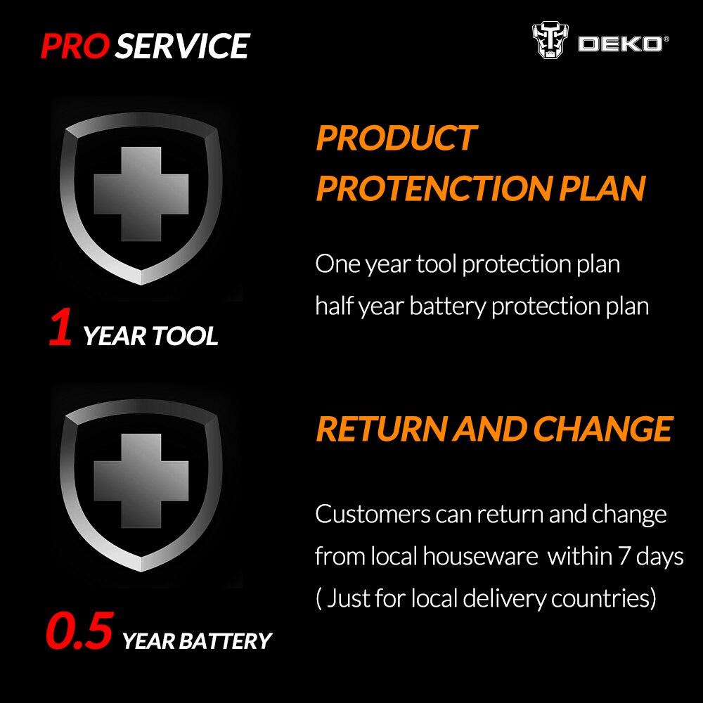 Scie alternative sans fil DEKO 20V originale scie électrique à vitesse réglable avec batterie et lames de 4 pièces - 6
