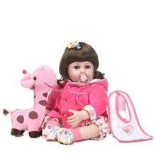 55 см силиконовые возрождается девочка игрушки куклы реалистичные 22-дюймовый винил новорожденных принцесса детей кукла Bebe возрождается девушки bonecas на день рождения