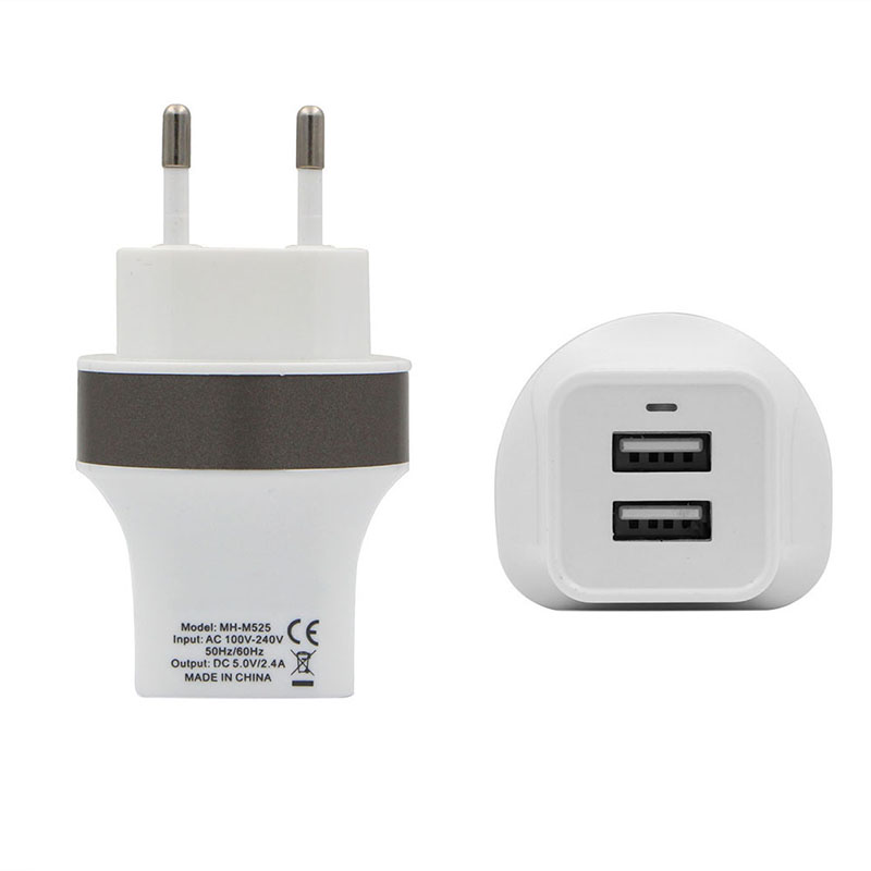 MaxPhone MH-M525 5V 2.4A Podwójna ładowarka ścienna USB - Części i akcesoria do telefonów komórkowych i smartfonów - Zdjęcie 4