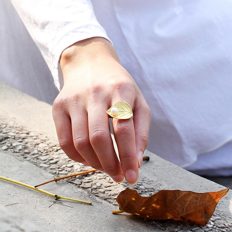 Lotus Fun 100% Prawdziwa 925 Srebro Naturalna Perła Ręcznie - Wykwintna biżuteria