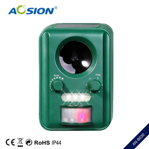Image 1 - Free Shipping AN B030 Aosion Outdoor garden use Waterproof Solar ultrasonic animal dog cat bird repeller repellent chaser