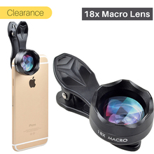 Ulanzi 18x Super Macro Phone Lens Professional HD Mobile Phone Camera Lenses Photography for iPhone X 8 7 6s Plus Xiaomi Samsung