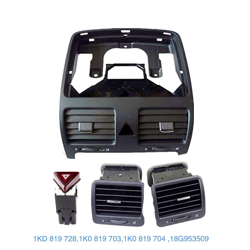 A set TUKE OEM Front Left Right Central Dashboard Air Vent Set For VW Golf MK5 Rabbit Jetta MKV 1K0819703 1K0819704 1K0819728 a set front