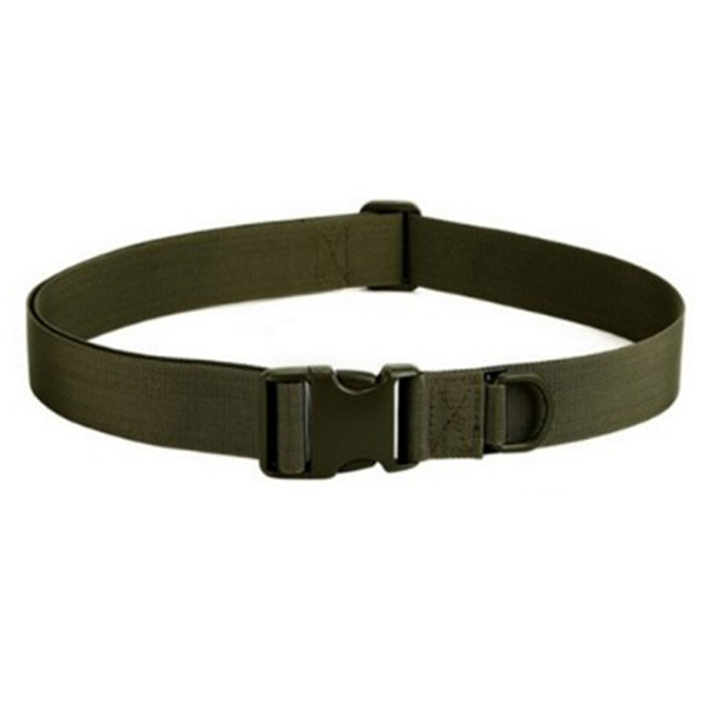 YJSFG HOUSE Simple Tactical Belts Outdoor Mens Military Nylon Adjustable Waistband Male Canvas Plastic Belt High Quality