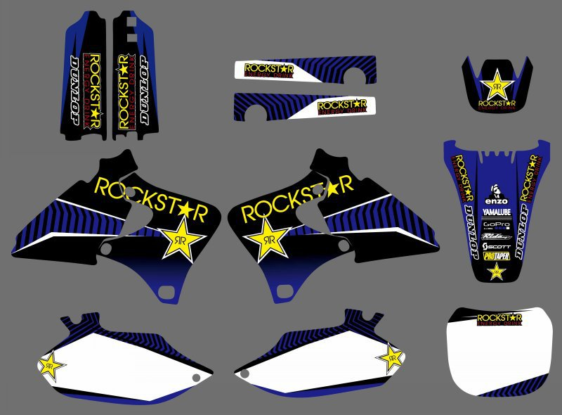 GRAPHICS BACKGROUNDS DECALS STICKERS Kits for Yamaha 4 STROKES YZ250F YZ400F YZ426F YZ 250 400 426