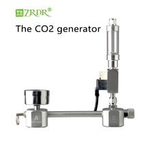 ZRDR аквариум DIY CO2 генератор системы комплект с регулировкой потока воздуха давления воды тихий фильтр-водопад для аквариума СО2 Соленоидный клапан