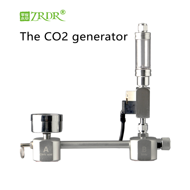 ZRDR Aquarium bricolage CO2 générateur système Kit avec pression réglage du débit d'air usine d'eau Aquarium Co2 électrovanne