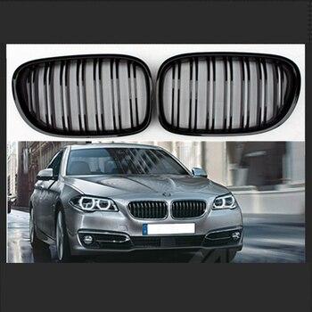 1 пара: передняя почечная решетка гриль глянец Черный/матовый черный гоночные грили для BMW 7-Series F01/F02/F03/F04 2009-2012 предлицевая сторона