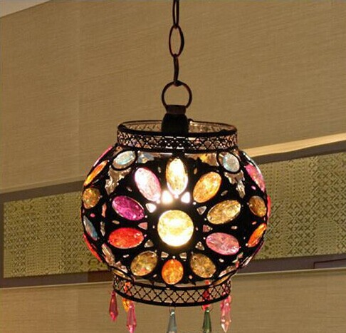 E14 retro European style Nepal colorful lamp shades crystal southeast Asia restaurant pendant lamp tt tf ths 02b hybrid style black ver convoy asia exclusive