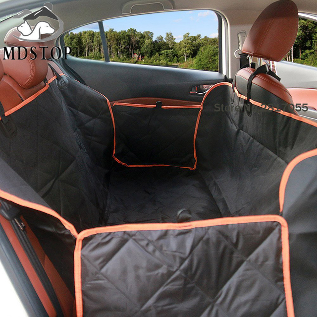 Nonslip Quilted Pet Hammock Waterproof Rear Back Seat Cover for Car Truck  SUV Auto Cat Dogs Safety Belt Protector Mat Blanket a1d3cbb50