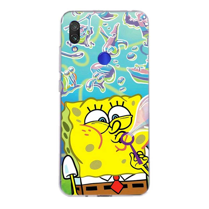 Uyellow SpongeBob SquarePans TPU Case For Redmi S2 Note 4 5 6 7 7S 4X 5 5A 5P 6 6A 7 7A Y3 For Xiaomi F1 8 lite 9 SE 5X 6X Cover in Fitted Cases from Cellphones Telecommunications