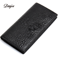 DANJUE Newly Arrived Men Genuine Leather Wallets New Alligator Purse Business Fashion Card Brand Long Organizer Clutch Pouch