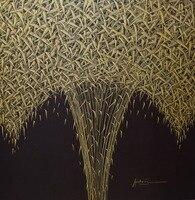 Dipinto a mano Olio Paining su Tela Astratta Moderna di Un mazzo di foglie Tela Pittura di Arte Della Parete Immagine Pittura per la Casa Decor