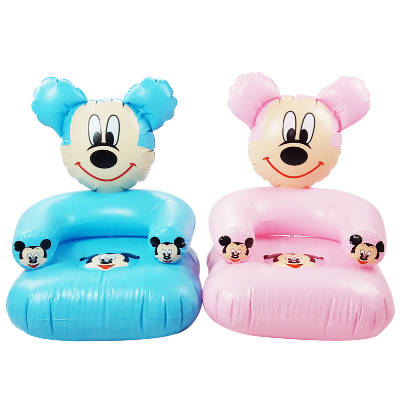 1-6 Years Old Children Cute Portable Cartoon Toy Chairs Lovely Inflatable Sofa Kids PVC Chairs Baby Seats