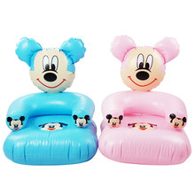 1-6 Years Old Children Cute Portable Cartoon Toy Chairs Lovely Inflatable Sofa Kids PVC Chairs Baby Seats(China)