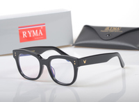 2018 Classic Brand Black Square Retro Optical prescription Frames Men Fashion computer Myopia Glasse Rivet Eyeglasses Women