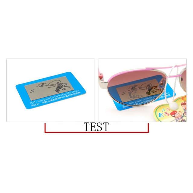 39daaf8835d6c 100 pcs TAC Lente Polarizada Cartão de Teste Cartão de Teste para Teste de  Polarização óculos