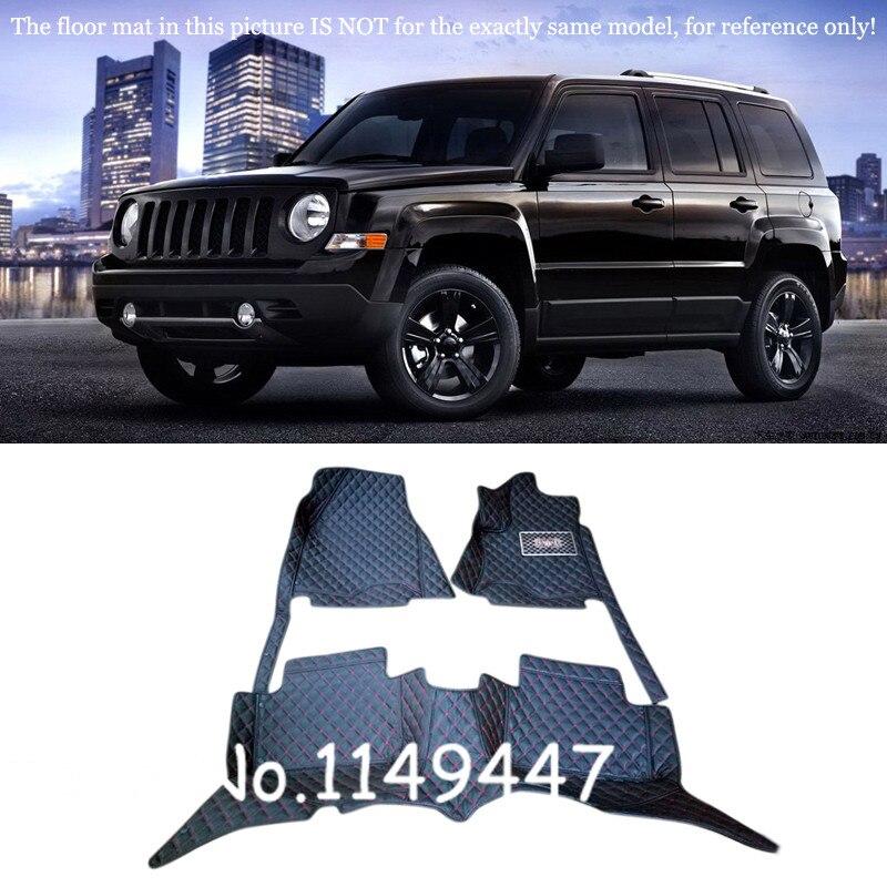 For Jeep Patriot 2010- 2015 Interior Custom Waterproof Car Styling Front & Rear Floor Mats Full Set цена