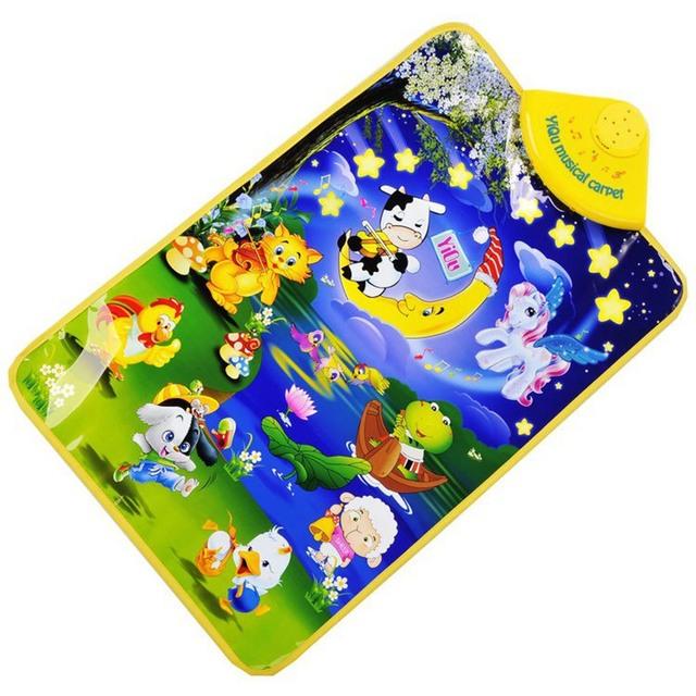 Tapetes do bebê Crawl Presente Brinquedo Cantando Ginásio Carpet 40*60 cm Tapetes de Jogo Em Desenvolvimento Musical Tapete Luar Animal Musical toque