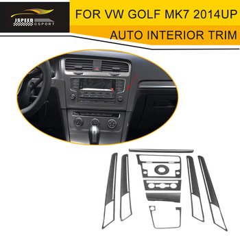 car styling carbon fiber auto Interior Mouldings Trim Covers fit for VW Golf MK7 2014UP left hand drive
