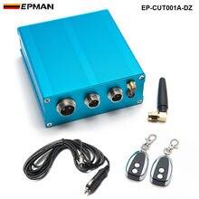 Электрический Управление коробка + 2 Беспроводной удаленного + жгут проводов для выхлопных газов Управление клапан EP-CUT001A-DZ