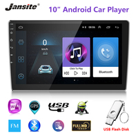 Jansite 10 inch Universal Car Radio Android 8.1 Player DVD Touch screen GPS Bluetooth 2 DIN multimedia player with Backup camera