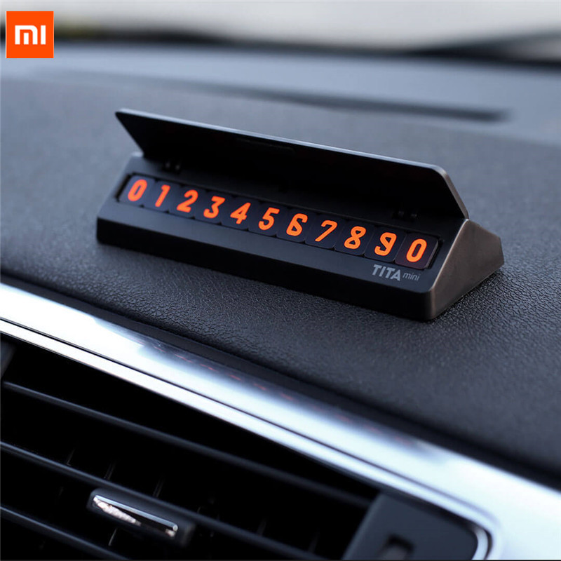 Xiaomi Youpin Bcase TITA Flip Type Car Temperary Parking Phone Number Card Plate Mini Car Decoration For Xiaomi Mi Life