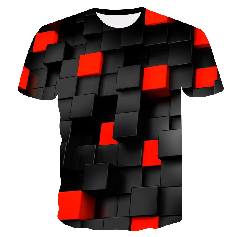 ALI shop ...  ... 32968946937 ... 1 ... 2019 Summer New Men's 3DT Shirt  Fashion T-Shirt Top Cool Plaid Diamond 3D Hip Hop T-Shirt  Brand Men's T-Shirt dropshipping ...