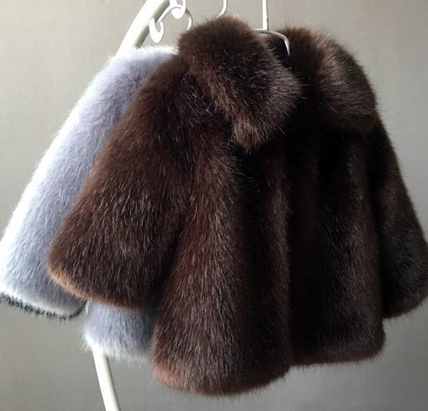 Children s wear winter children wool fur coat boys girls with thick cotton baby clothes