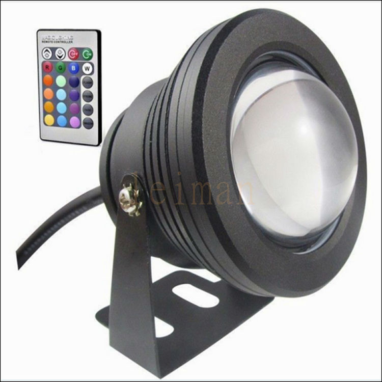 Led Lamps 10w Dc 12v Led Underwater Floodlight Pool Light Waterproof Lighting With Convex Glass Rgb/red/green/blue/warm/cold/white