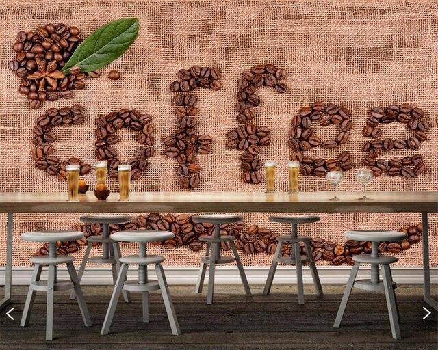 Caffè Grano Word Lettering Inglese Cibo foto wallpaper, soggiorno ...