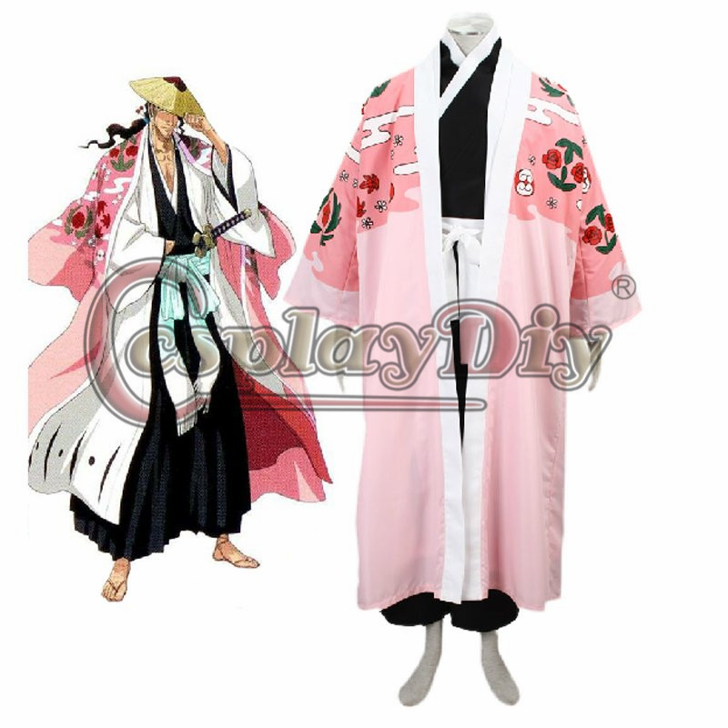 Bleach Gotei Thirteen Shunsui  Captain of the 8th Division Soul Reaper Kimono Cosplay D0226