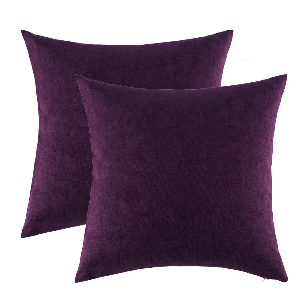 GIGIZAZA Purple Cushions Covers 45x45 <font><b>50x50</b></font> for Sofa Bed Home Decor Throw Pillows Covers for Couch Bedroom Luxury <font><b>Pillowcases</b></font> image
