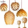 Подвесной светильник в скандинавском стиле из мордового дуба, подвесной светильник из дерева, современный светильник для столовой, рестора...