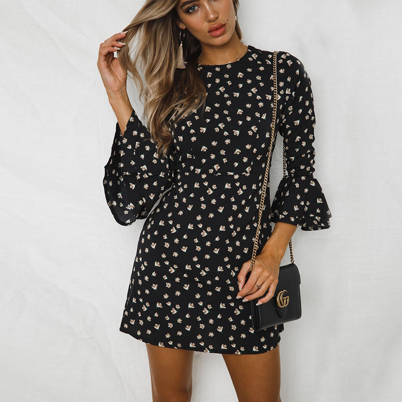 Contrast Polka Dot Mini Dress Womens Black Red Blue Casual Summer Womens Dresses Stretchy Slimming Party Dress Vintage Autumn polka dot