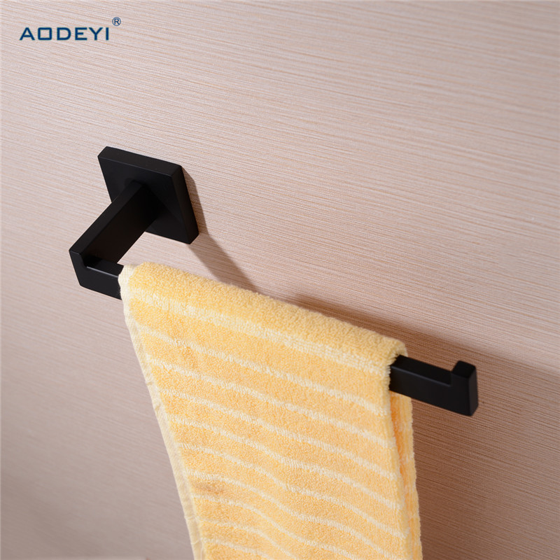 Bathroom Towel Bar Solid Hight Quality 304 Stainless Steel Towel Holder Black Finish Square Bathroom Accessories Free Shipping free shipping bathroom accessories products solid 304 stainless steel nickel brushed double towel bars towel holder sus003