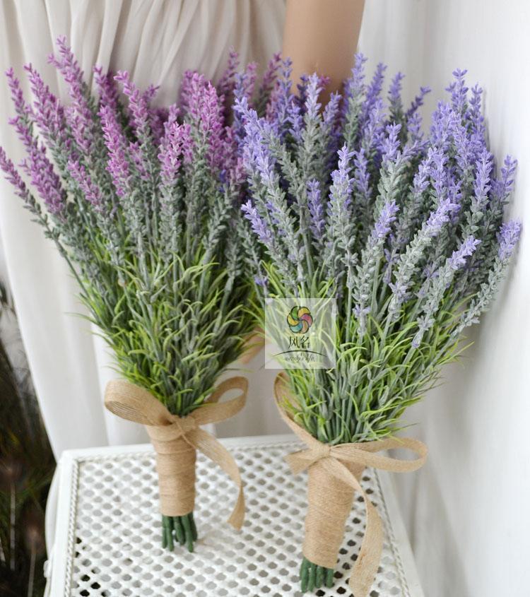 High Quality Handmade Bride Hand Holding Flowers Artificial Lavender ...