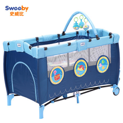 Home Appliance Parts Sweeby Shi Wei Than European Multifunctional Folding Baby Bed Without Environmental Paint Non Solid Wood Bed Double Game Dependable Performance Home Appliances