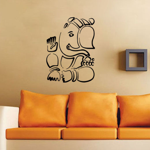 Superior Removable Wall Decor Mural Indian Home Art Decoration Wall Sticker Ganesha  Silhouette Lord Vinyl Wall Mural Part 26