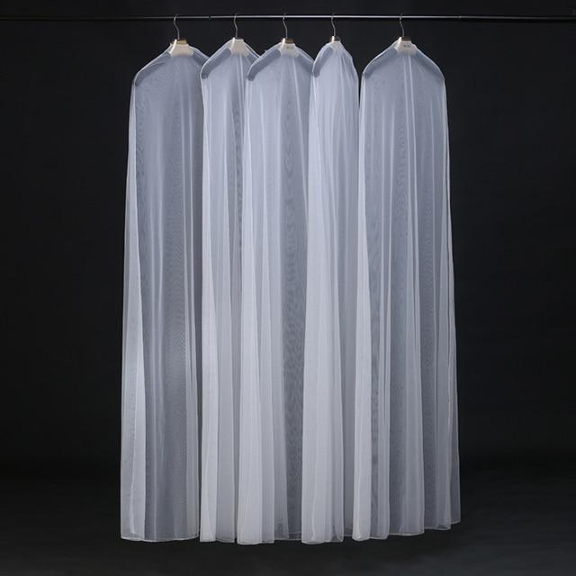 Length 160,180 Two Size Wholesale Transparent Wedding Dress Dust ...