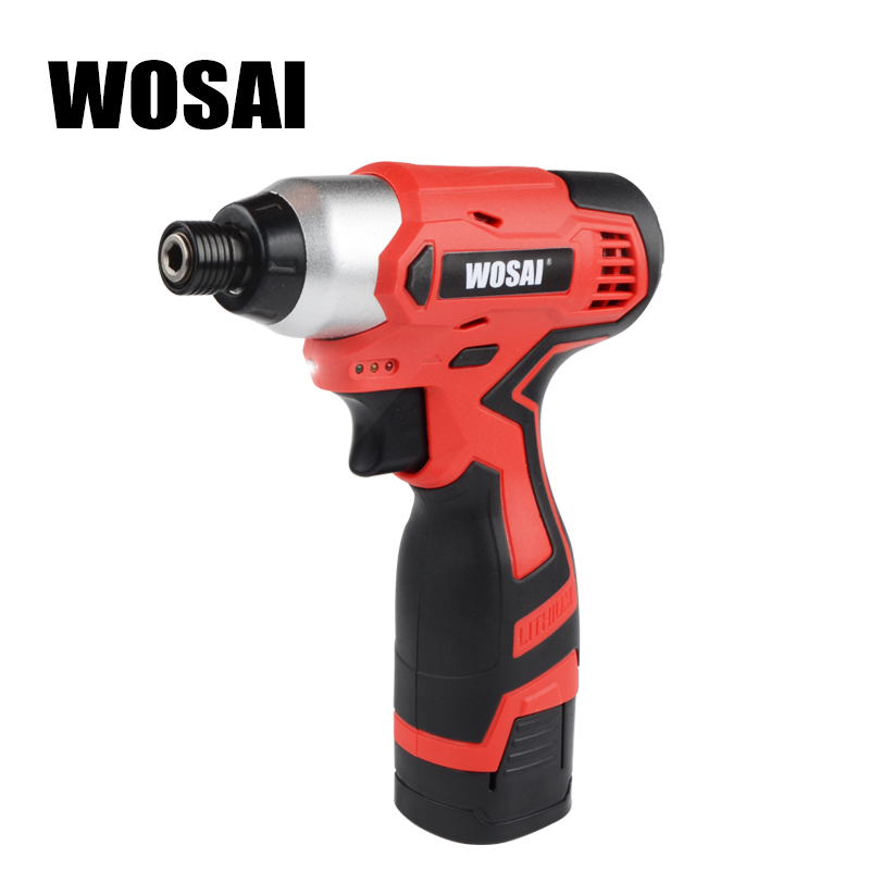WOSAI 16V Cordless Electric Lithium-Ion Screwdriver cordless drill Household Multifunction Hit Electric Drill Tools Screwdriver wosai 6pcs electric drill