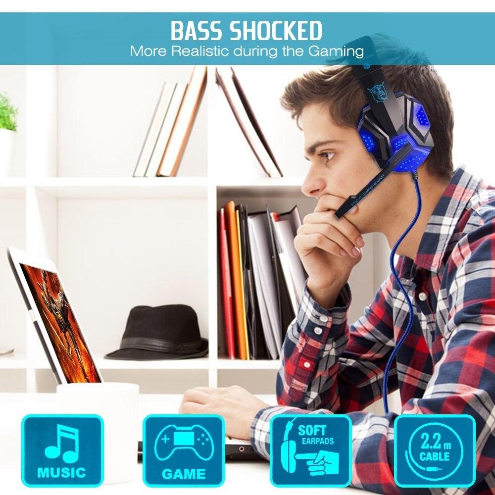 40mm žičani gaming slušalice Gamer slušalice Stereo duboko bas - Prijenosni audio i video - Foto 5