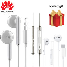 Huawei Original am116 Earphone Honor AM115 Mic 3.5mm/Type c Headset For P8 P9 P10 P20 Pro Mate 7 8 9 10 20 Pro 20x Honor 7 8 V8(China)