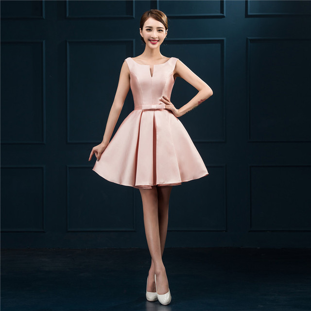 2581986247ad TS Couture Ball Gown Scoop Neck Short / Mini Satin Cocktail Party  Homecoming Dress with Sash / Ribbon