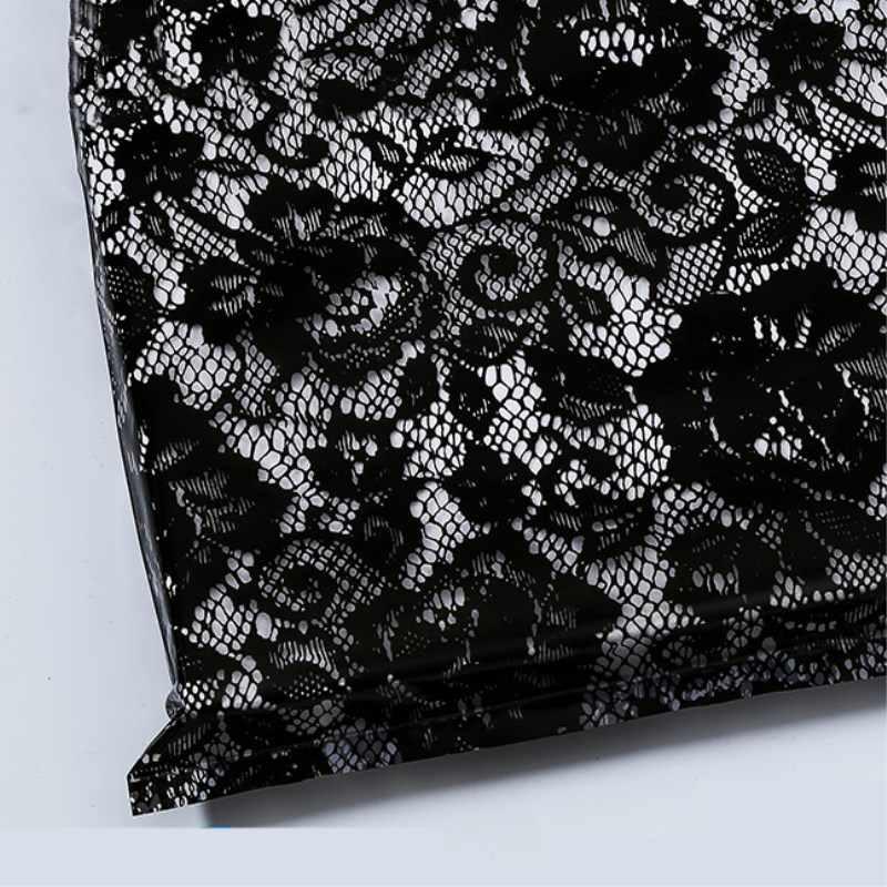 HARDIRON 50pcs Black Lace Packet Cosmetics Clothing Pouch Pink Rose Print Handbag Fashion Purple Gift Bag
