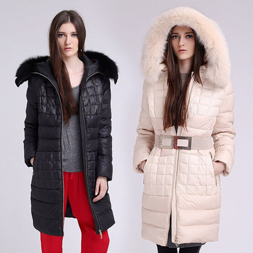 Nice new Europe America brand women's winter fashion real fox fur collar down long parka ladies warm coats plus size XXXXL S1325