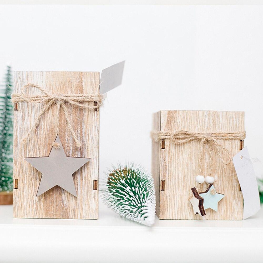 Sapin De Noel Suspendu En Bois bougeoir de noël chandelier en bois avec étoile suspendue
