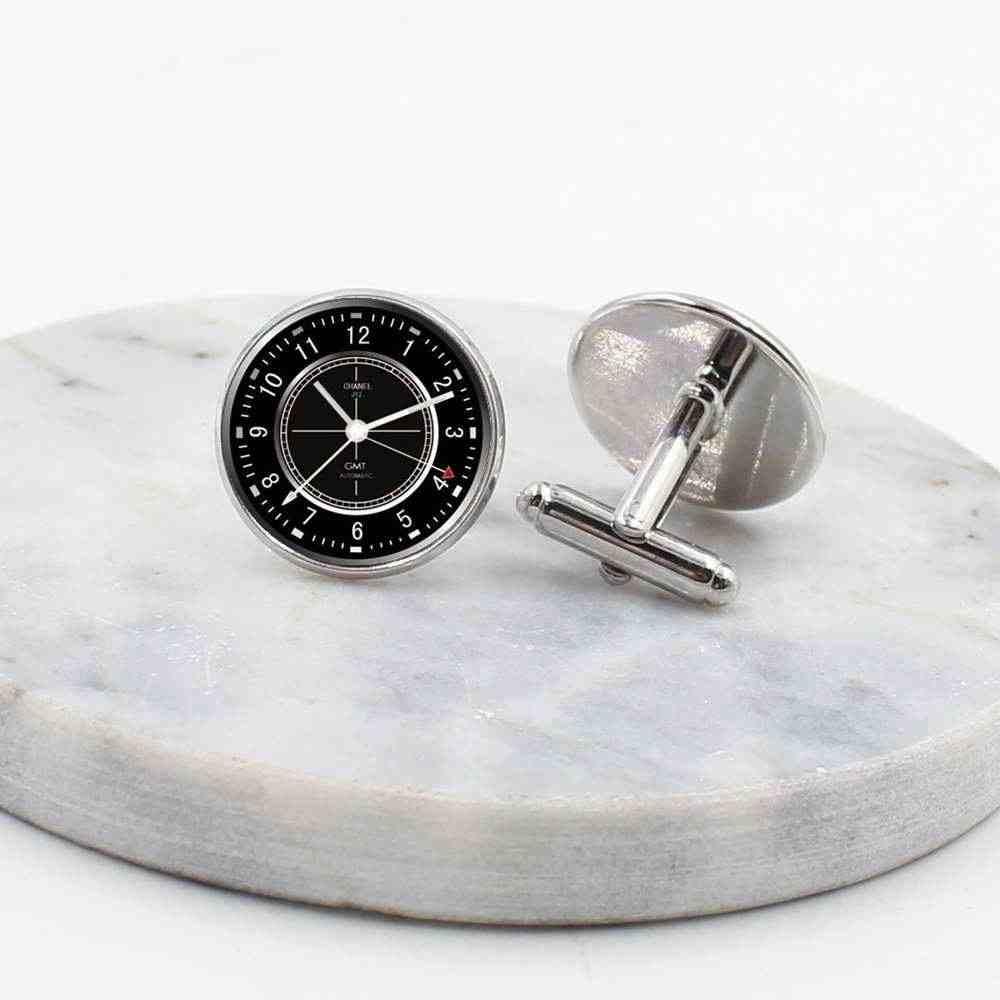 20 мм Новые запонки в стиле Лондона, выглядят Круглый купол стимпанк, винтажная Ювелирная живопись часы мужские запонки подарок
