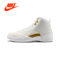 Original New Arrival Authentic NIKE Air Jordan 12 Retro OVO October's Very Own Mens Basketball Shoes Sneakers Breathable Sport